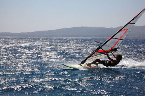 Summer water sport at Schinia Beach
